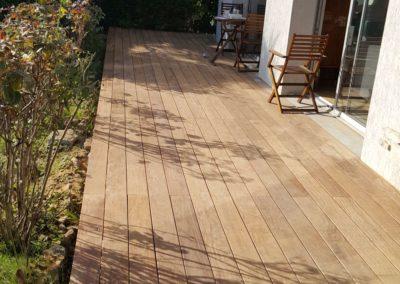 Terrasse en bois exotique Cumaru