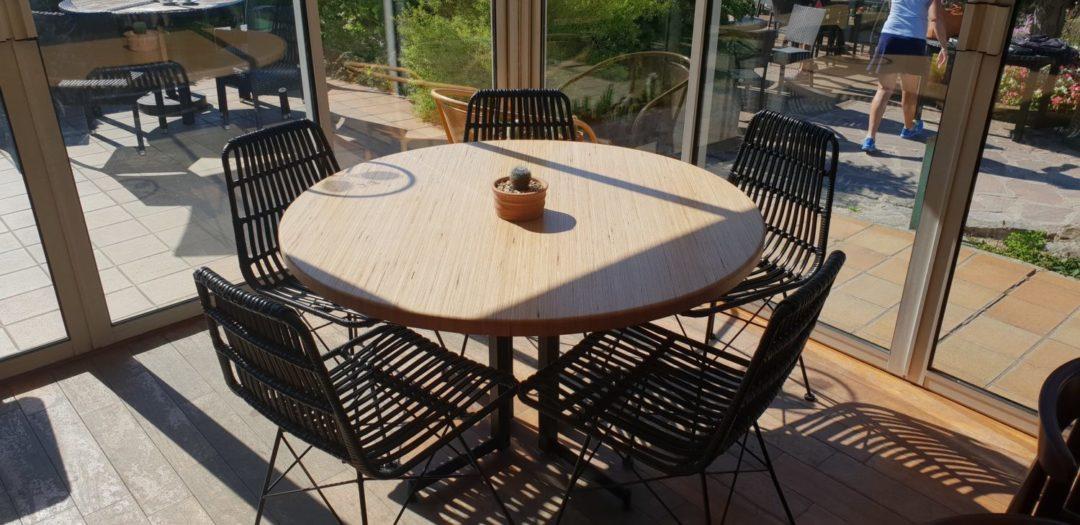 réalisation de tables pour un restaurant